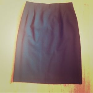 Talbots Size 8 black crepe skirt Excellent UC